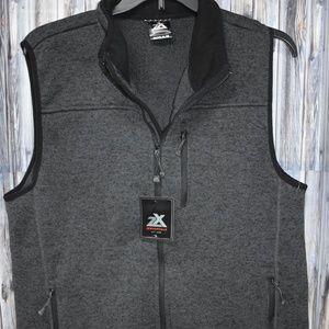 ZeroXposur Fleece Sweater Vest In Slate XL New